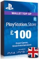 £100 GBP Playstation Network Card (PS Vita/PS3/PS4)