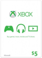 $5 Xbox Live Gift Card (Xbox One/360)