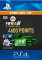 4600 FIFA 18 Points PS4 PSN Code - UK Account